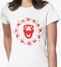 12 Monkeys - Face Clock Version Womens Fitted T-Shirt