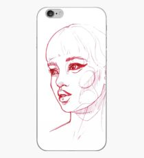 Red Girl Three iPhone Case