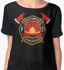 Retired Firefighter Badge - Fireman Rescue Hero  Chiffon Top