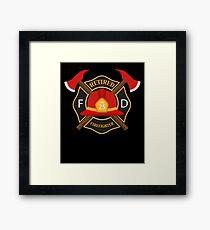 Retired Firefighter Badge - Fireman Rescue Hero  Framed Print