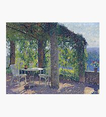 Henri Martin - The Arbour In The South-West Of Marquyarol Homestead In The Light Of Summer Morning, 1925 Photographic Print