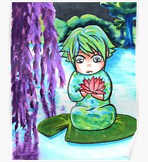 Water Sprite - copic illustration original character Poster