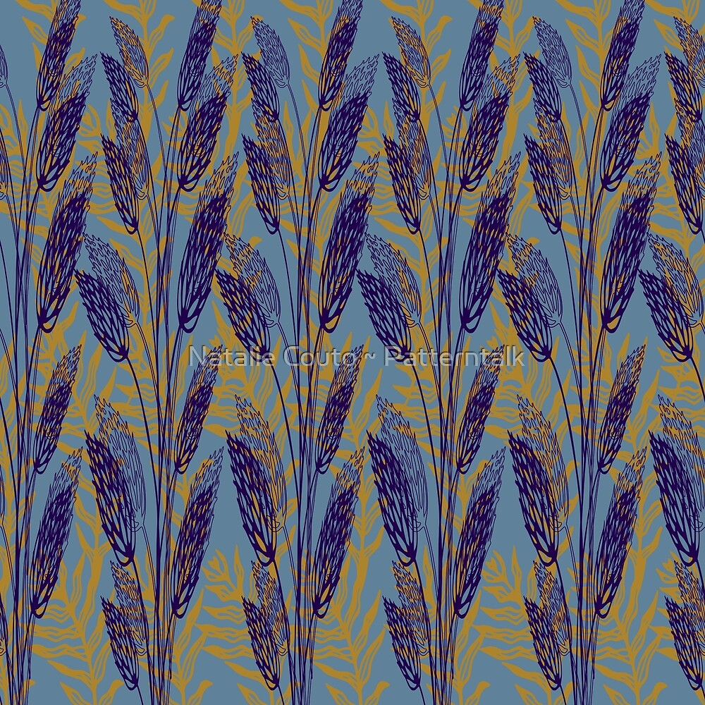 Wildgrasses-sky by Natalie Couto ~ Patterntalk