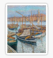 Henri Martin - The Port Of Marseilles, With Bellfry On Background, 1910 Sticker