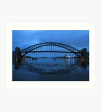 Iconic Reflections- Sydney Harbour Australia Art Print