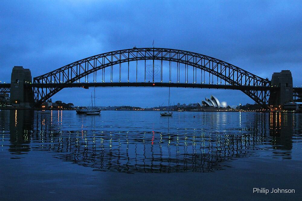 Iconic Reflections- Sydney Harbour Australia by Philip Johnson