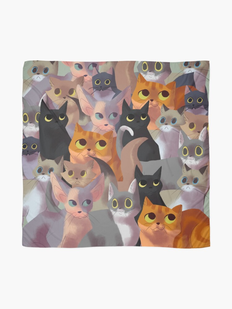 Alternate view of Lotsa cats Scarf
