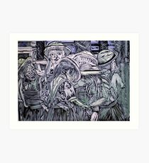 Chelsea Girls - Lino Cut Print Art Print