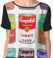 Andy Warhol Campbell's soup cans pop art Women's Chiffon Top
