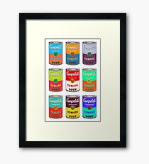 Andy Warhol Campbell's soup cans pop art Framed Print