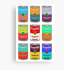 Andy Warhol Campbell's soup cans pop art Canvas Print