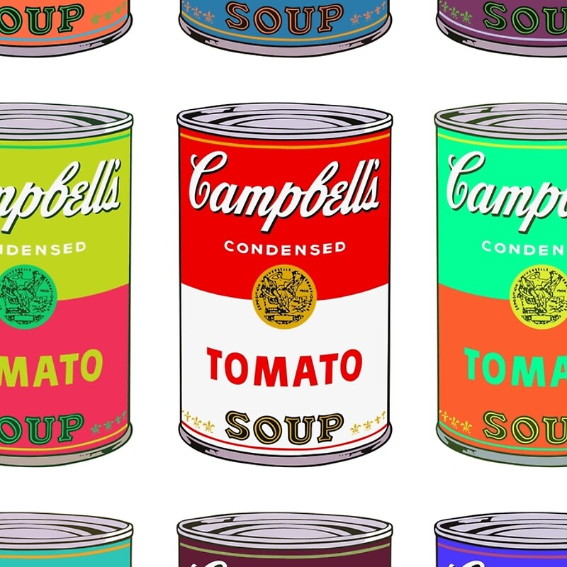 "Très Andy Warhol Campbell's soup cans pop art"" Hardcover Journals by Mr  ET71"