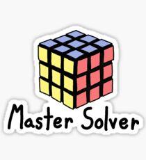 Master Solver Sticker