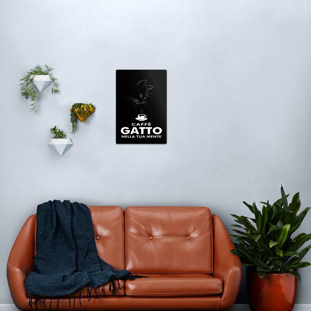 Caffè Gatto Metal Print