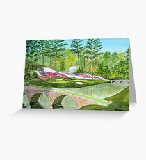 Hole 12 Amen Corner Greeting Card