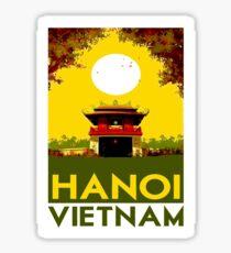 Pegatina HANOI VIETNAM: Publicidad publicitaria de viajes vintage