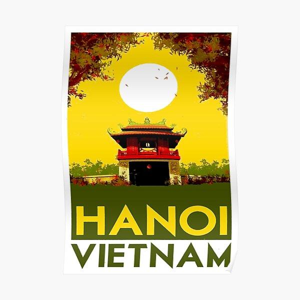 HANOI VIETNAM: impression publicitaire de voyage vintage Poster