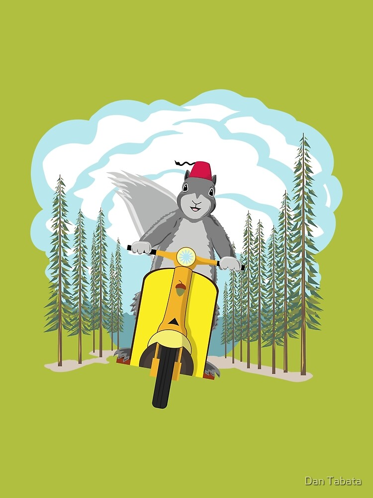 Squirrel on a Scooter by Dan Tabata