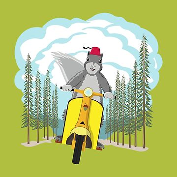 Squirrel on a Scooter by dmtab
