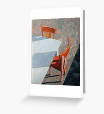 """Table & chairs"" Greeting Card"