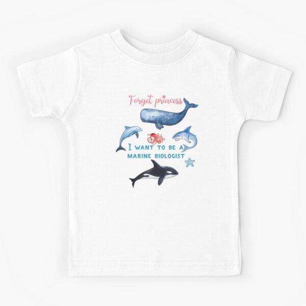 Forget Princess I Want To Be A Marine Biologist Kids T-Shirt Kids T-Shirt
