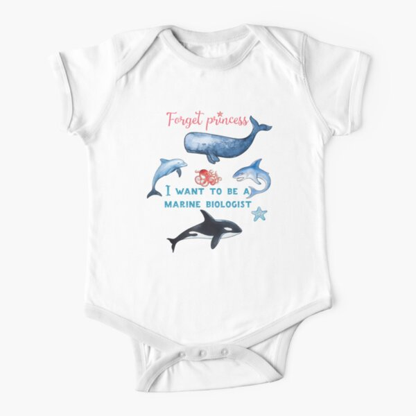 Olvídese de la camiseta de los niños de Princess I Want To Be A Biologist Body de manga corta para bebé