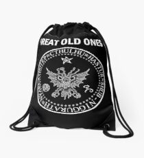 Seal of the Great Old Ones - White Drawstring Bag