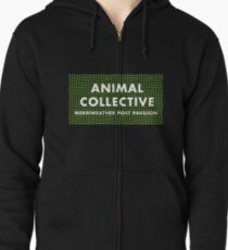 animal collective Zipped Hoodie