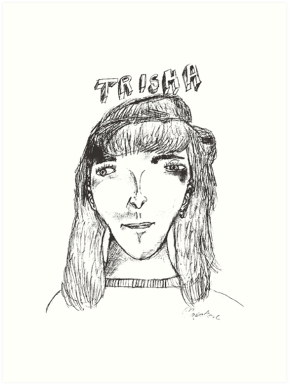 Quot Napoleon Dynamite Trisha Sketch Quot Art Print By Ccuk66
