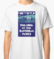 USA National Parks Vintage Poster Restored Classic T-Shirt