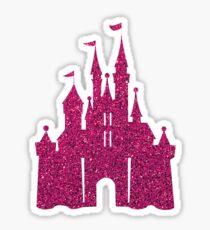 Pink Glitter Wishes Sticker