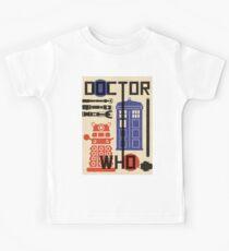Dr Who Bauhaus Style  Kids Tee