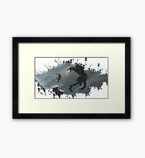 Skyrim Splatter Framed Print