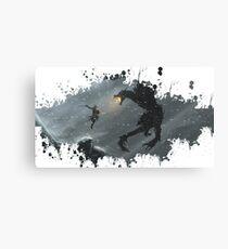 Skyrim Splatter Canvas Print