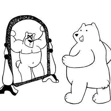Mirror Muscle Bear by BearlyGoin