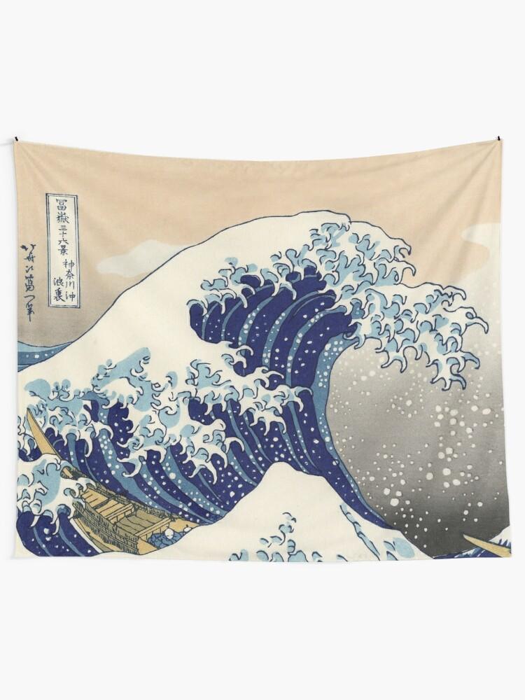 Die Große Welle Vor Kanagawa Wandbehang Von Maryedenoa Redbubble