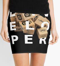 developer cubes white edition Mini Skirt