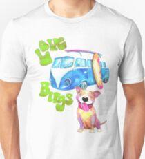 Love Bugs, Pitbulls & 1960s Vintage Bus Unisex T-Shirt