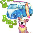 Love Bugs, Pitbulls & 1960s Vintage Bus by Beverly Lussier