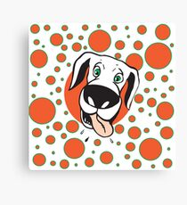 Seeing Spots Dog Canvas Print