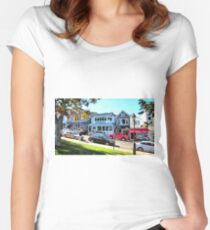 Main Street - Bar Harbor Women's Fitted Scoop T-Shirt