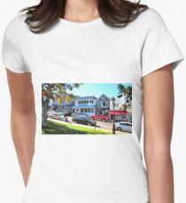 Main Street - Bar Harbor Women's Fitted T-Shirt