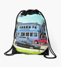 Main Street - Bar Harbor Drawstring Bag