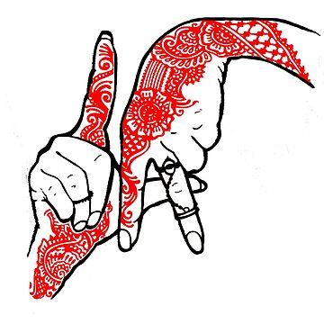 LA Hand Sign  by gujjuevolution