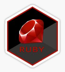 ruby hexagonal Sticker