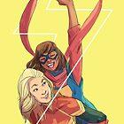 Kamala and Carol by wardengrey