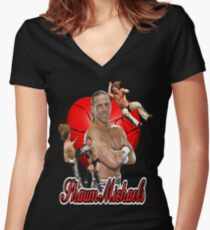 Shawn Michaels Women's Fitted V-Neck T-Shirt