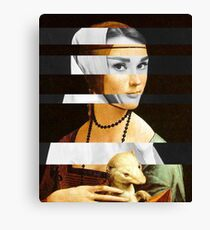 Leonardo's Lady with an Hermine & Audrey Hepburn Canvas Print
