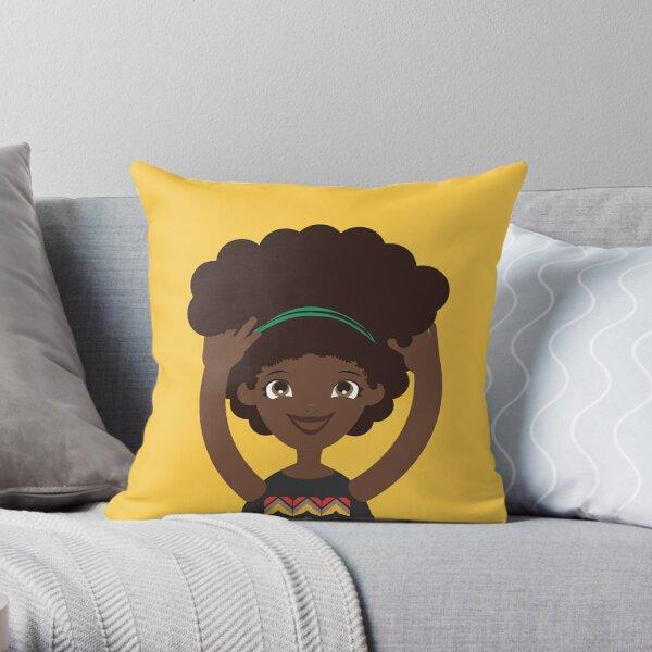MyLovelyHair Throw Pillow