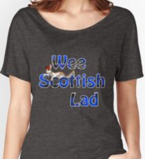 Wee Scottish Lad Blue Women's Relaxed Fit T-Shirt